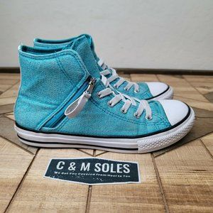 Converse ALL STAR Turquoise High Tops Side Zippers